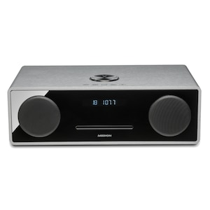 MEDION® LIFE® X64777 All-in-One Audio System, Bluetooth 3.0, USB- & AUX-Anschluss, CD-Player, UKW-Radio, LC-Display, 2 x 25 Watt RMS