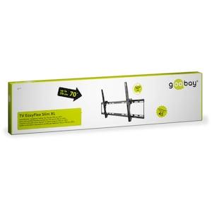 WENTRONIC EasyFlex Slim XL TV-Wandhalterung, für Geräte von 37'' bis 70'' (94-178cm), einstellbare Neigung, VESA max. 800x400mm, Traglast 75kg