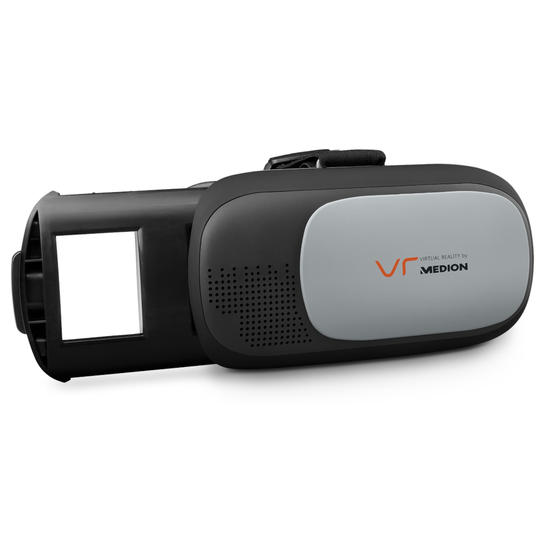 MEDION® X83008 Virtual Reality Headset, geeignet für die meisten 4,0'' bis 6,0'' Smartphones, flexibler Kopfgurt, einstellbarer Fokus