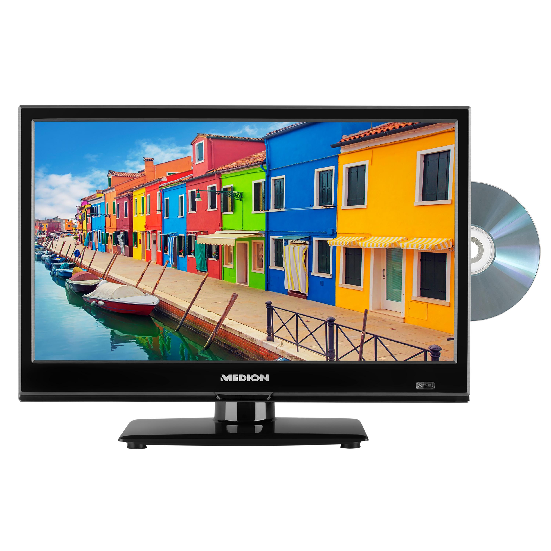 MEDION® LIFE® E11682 TV, 39,6 cm (15,6'') LED-Backlight, HD Triple Tuner, integrierter DVD-Player, Car-Adapter, CI+