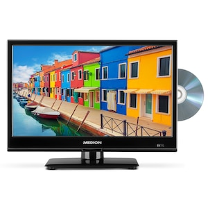 MEDION® LIFE® P12308 TV, 39,6 cm (15,6) LED-Backlight, HD Triple Tuner, integrierter DVD-Player, Car-Adapter, CI+