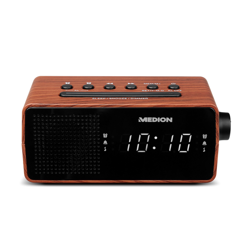 MEDION® LIFE® E66403 PLL Uhrenradio, LED Display mit weißen Ziffern, Wecken durch Radio oder Alarmton