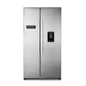 MEDION® Side-by-Side Kühl- und Gefrierschrank MD 37250, 514l Fassungsvermögen, integrierter Wassertank, EEK A++