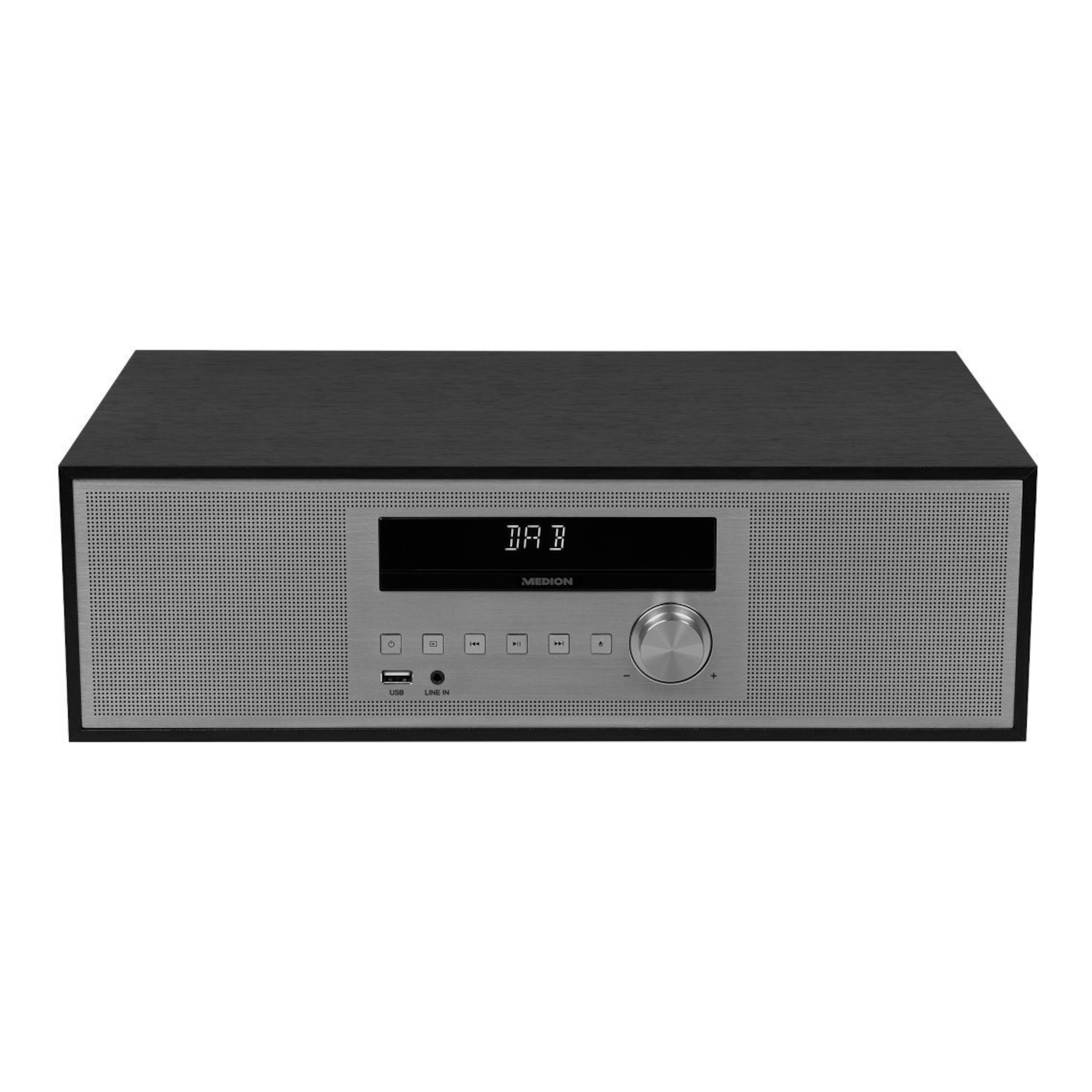 MEDION® LIFE® P64477 All-In-One Audio System, PLL-UKW, DAB+, Bluetooth®, AMS, 5 Soundvoreinstellungen, dimmbares LED-Display, 2 x 15 W RMS