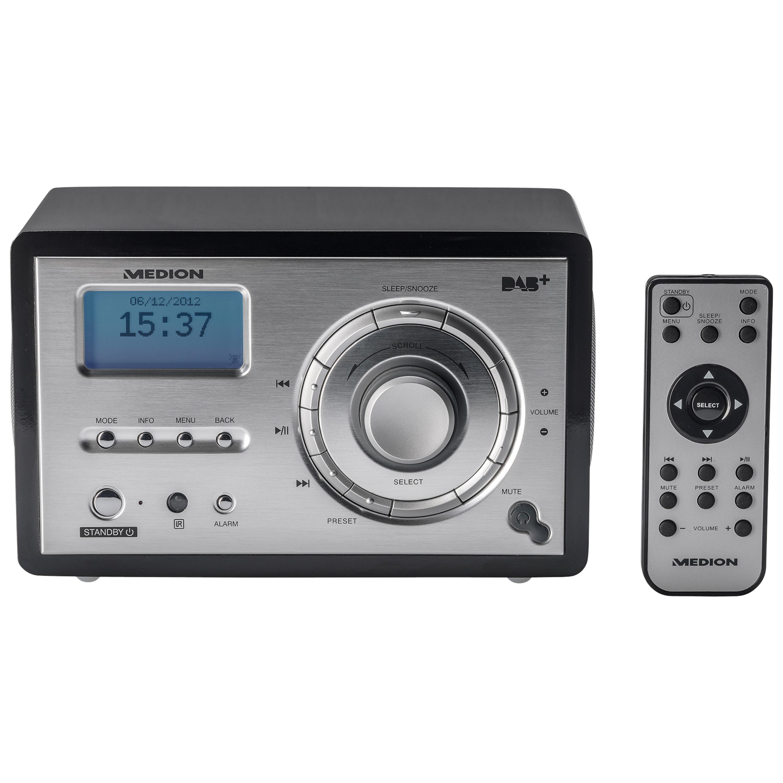MEDION® LIFE® P66050 DAB+ Internet-Radio mit UKW PLL Tune, Wecken durch Radio oder Alarmton, 20 Watt (2 W RMS)