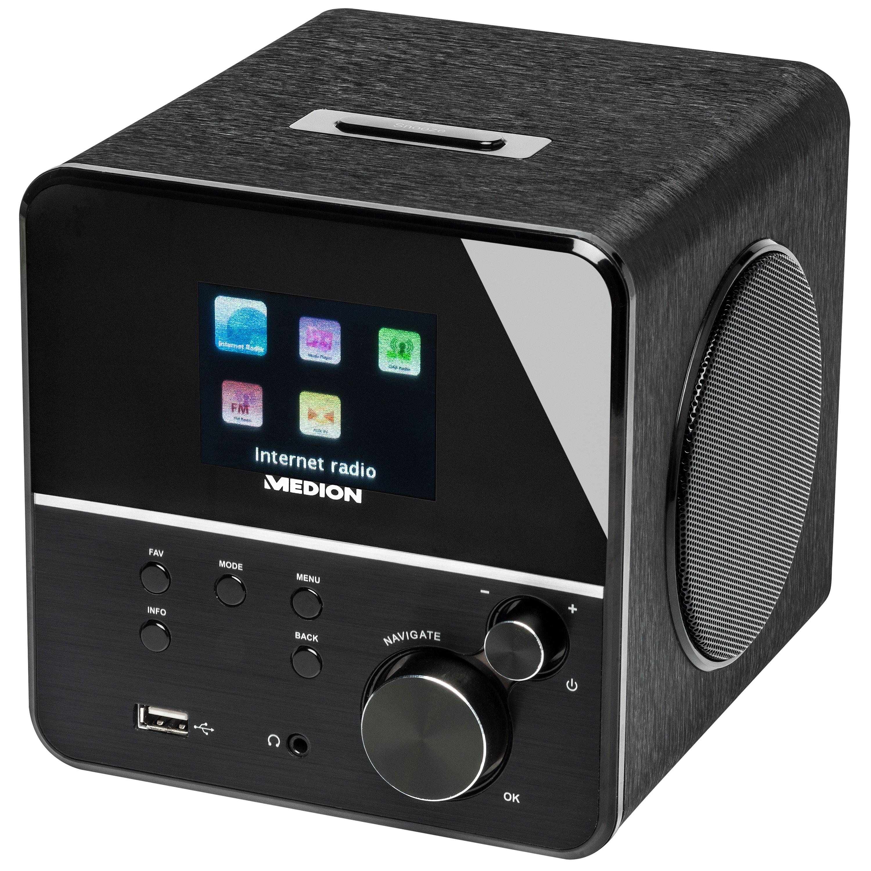 "MEDION® P85040 WLAN Internet-Radio, 2,8"" TFT-Display, UKW, RDS, USB Anschluss, DLNA/UPNP, Solides Holzgehäuse"