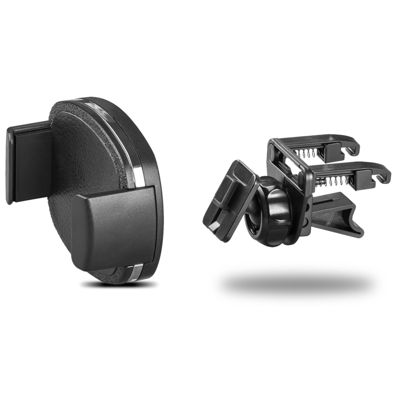 WENTRONIC Universalhalter für den Lüftungsschacht, 360° arretierbar, Gepolstertes Seitenteil, Für Geräte mit einer Breite von 50 bis 90 mm