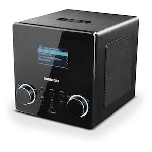 MEDION® LIFE® P85044, WLAN Stereo Internetradio (MD87180), DAB+, USB Steckplatz, Wecker, Steuerung per App, geeignet für Küche oder Bad (B-Ware)