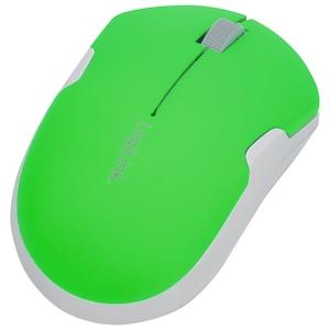 MEDION® optische Mini Funkmaus mit USB Micro Dongle, 3 programmierbare Tasten, Neon-Grün