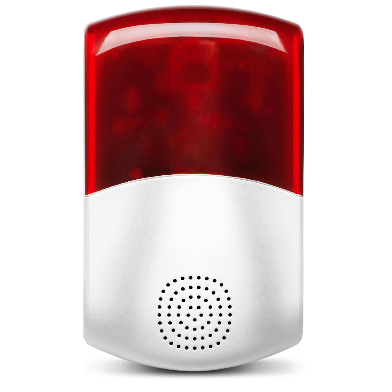MEDION® Smart Home Außensirene P85714, 95dB, Stroboskopisches rotes Licht