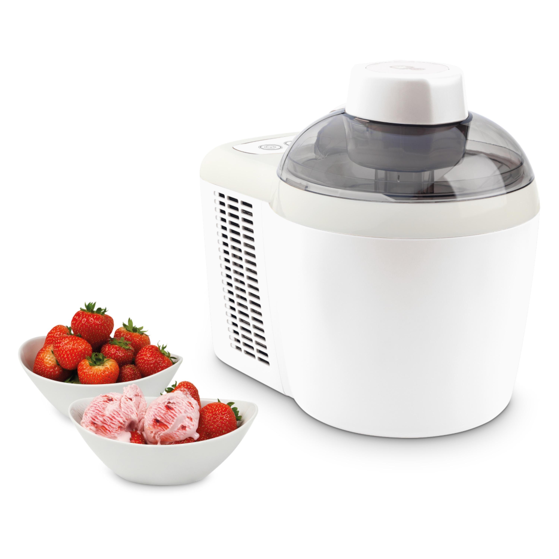 MEDION® Eismaschine MD 16980 für 700ml Eis oder Frozen Joghurt (Füllmenge: 300ml), selbstkühlend, kompakt und leise, Eis innerhalb von 50 Minuten