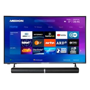 MEDION® BundelDEAL ! LIFE® P14327 43 inch Smart-TV & P61202 Bluetooth Soundbar