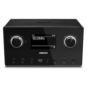 MEDION® LIFE® X64777 All-in-One Audio System, Bluetooth 3.0, USB- & AUX-Anschluss, CD-Player, UKW-Radio, LC-Display (B-Ware)