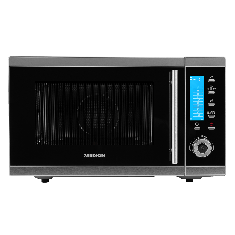 MEDION® 4in1 Mikrowelle MD 15501, Kombination aus Mikrowelle, Ofen und Doppelgrill, 10 Automatikprogramme, 25 L Garinnenraum