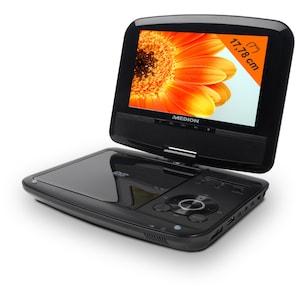 MEDION® Portabler DVD-Player, 17,78cm Display, Xvid und MPEG4** kompatibel, 3-in-1 Kartenleser