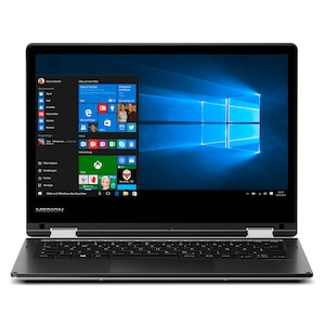 MEDION® AKOYA® E2228T, Intel® Atom® x5-Z8300, Windows 10 Home, 29,5 cm (11,6) FHD Touch-Display, 64 GB Flash, 4 GB RAM, Convertible Notebook (B-Ware)
