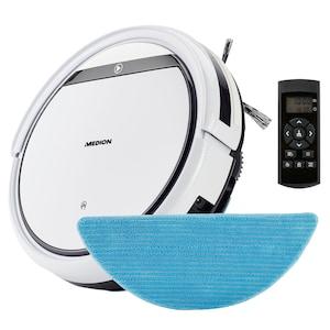 MEDION® Robotstofzuiger E32 SW | reiniging van stof, haar & pollen, stofzuigen & dweilen | programmeerfunctie | 120 min. looptijd & automatisch opladen