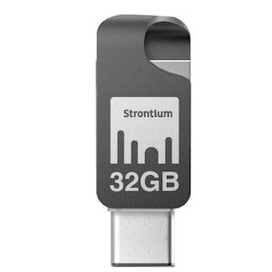 WENTRONIC Nitro Plus OTG USB Typ C Stick, 32 GB, On-the-go Typ C Adapter, Bis zu 150 MB/s, Für Smartphones und Tablets