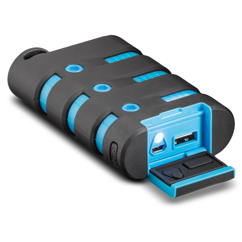 WENTRONIC Outdoor PowerBank mit 10.050 mAh, Wasserdicht & Leistungsstark, 2,1 Ampere, Taschenlampenfunktion, Batteriestatus-Anzeige