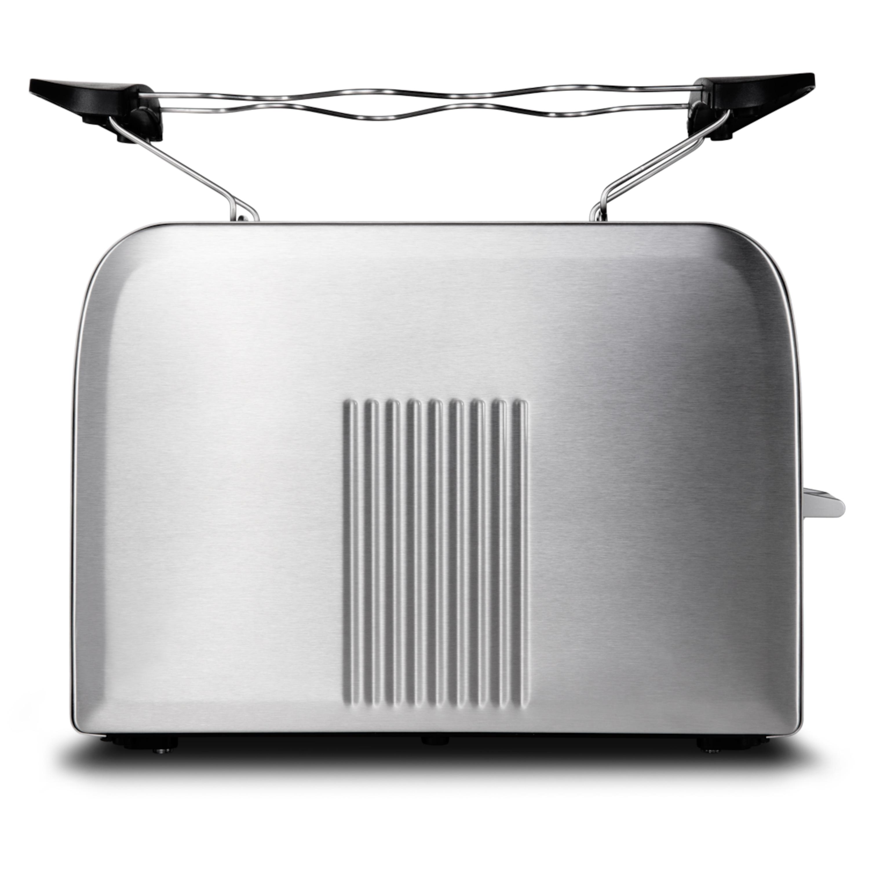 MEDION® Edelstahl-Toaster MD 16232, Edelstahlgehäuse, 870 Watt, Aufwärm-, Auftau- und Stopptaste, Bräunungsgrad-Regler