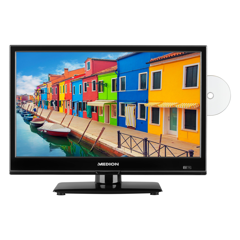 MEDION® LIFE® E11911 Fernseher, 47 cm (18,5'') LCD-TV, HD Triple Tuner, integrierter DVD-Player, Car-Adapter, CI+