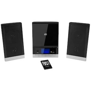 MEDION® LIFE® E64704 Mikro-Audio-System mit CD-Player UKW/MW Stereo Radio, Weckfunktion, 30 Senderspreicher, LC-Display mit blauer Hintergrundbeleuchtung, 2 x 25 W