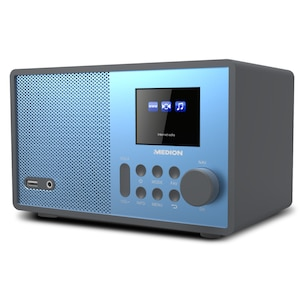 "MEDION® E85059 WLAN Internet-Radio, Solides Holzgehäuse, 6,1 cm/2,4"" TFT-Display, DLNA/UPNP, FM/UKW, USB 2.0, AUX, 1 x 10 W RMS"
