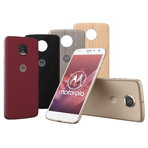 MOTOROLA moto z2 play Smartphone, 13,97 cm (5,5) Full HD Display, Android™ 7.1.1., 64 GB Speicher, Octa-Core-Prozessor, inkl. 4 x Moto Style Shells