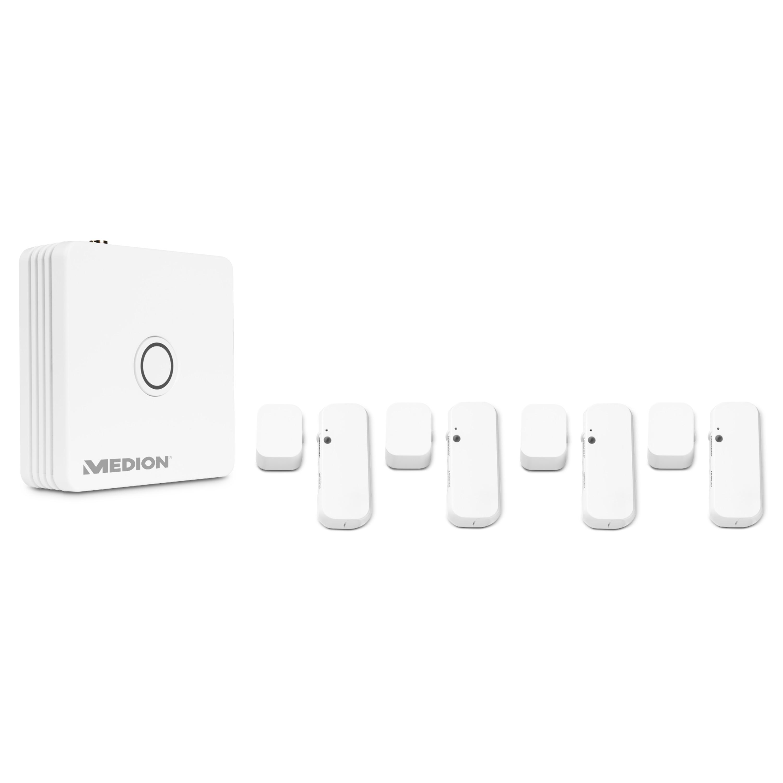 MEDION® Smart Home Sicherheit inkl. MEDION® Smart Home Zentrale P85701 & 4 x MEDION® Smart Home Tür- und Fensterkontakt P85703