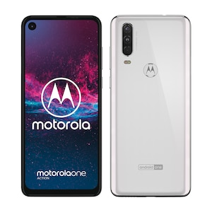 MOTOROLA One Action Smartphone, 16 cm (6,3'') Full HD+ Display, Android™ 9, 128 GB Speicher, Octa-Core-Prozessor, Dual-SIM, LTE, weiß