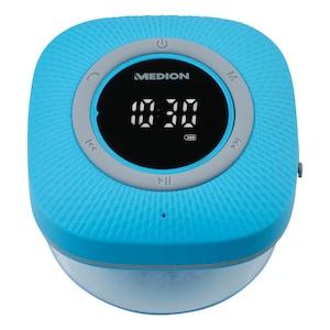 MEDION® LIFE P66096 Bluetooth® Douche Radio | LED-Display | FM radio | IPX6 waterdicht | 3 Watt RMS | Blauw
