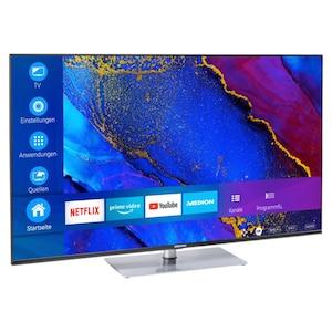 MEDION® LIFE® X15563 Smart-TV, 146,1 cm (58'') Ultra HD Display, HDR, Dolby Vision™, Micro Dimming, MEMC, PVR ready, Netflix, Amazon Prime Video, Bluetooth®, DTS HD, HD Triple Tuner, CI+
