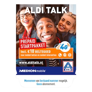 ALDI TALK Prepaid Startpakket € 10 beltegoed