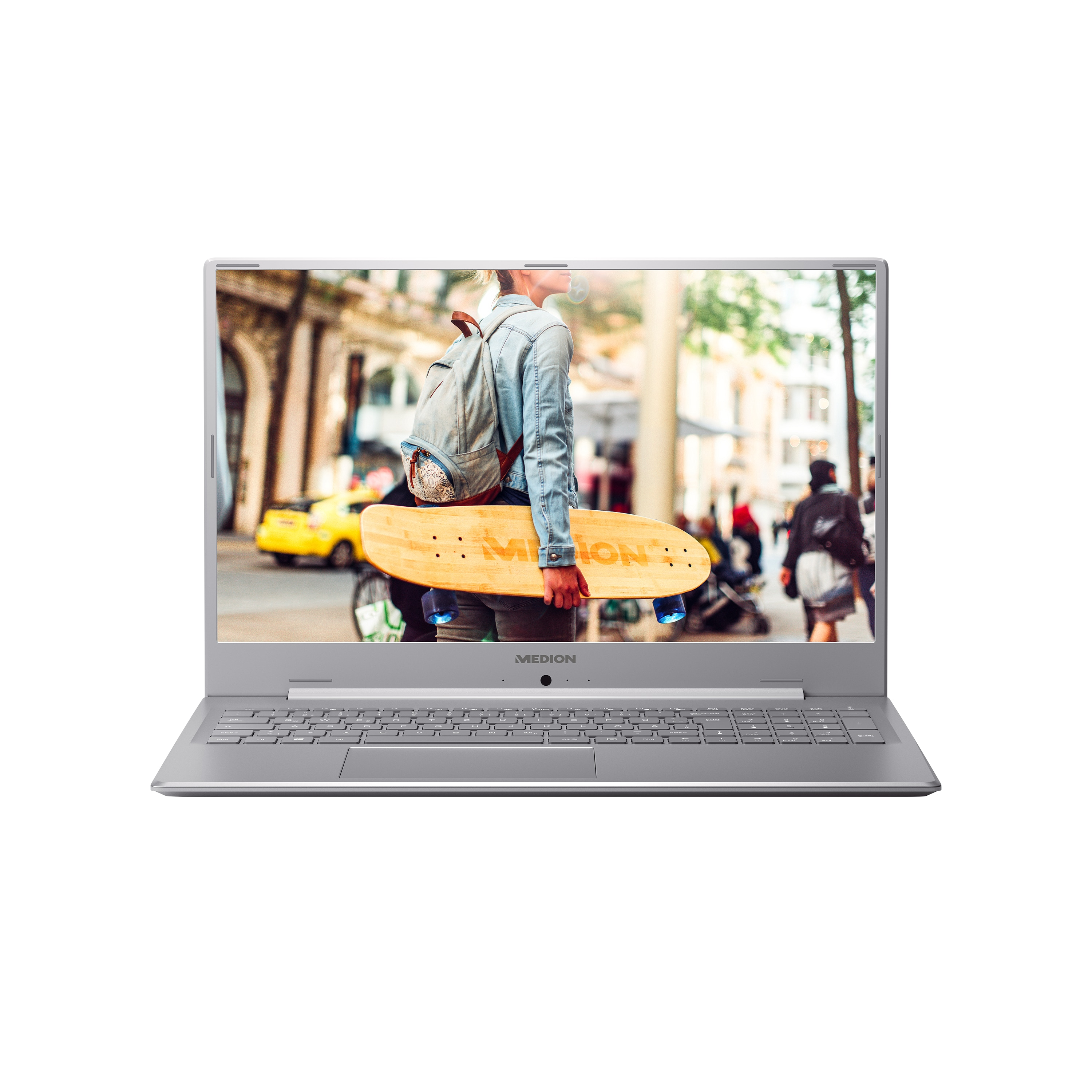 MEDION® AKOYA® E17201, Intel® Pentium® Silver N5000, Windows 10 Home, 43,9 cm (17,3) FHD Display, 1 TB HDD, 8 GB RAM, Schlankes Design, Schnellladefunktion, Notebook