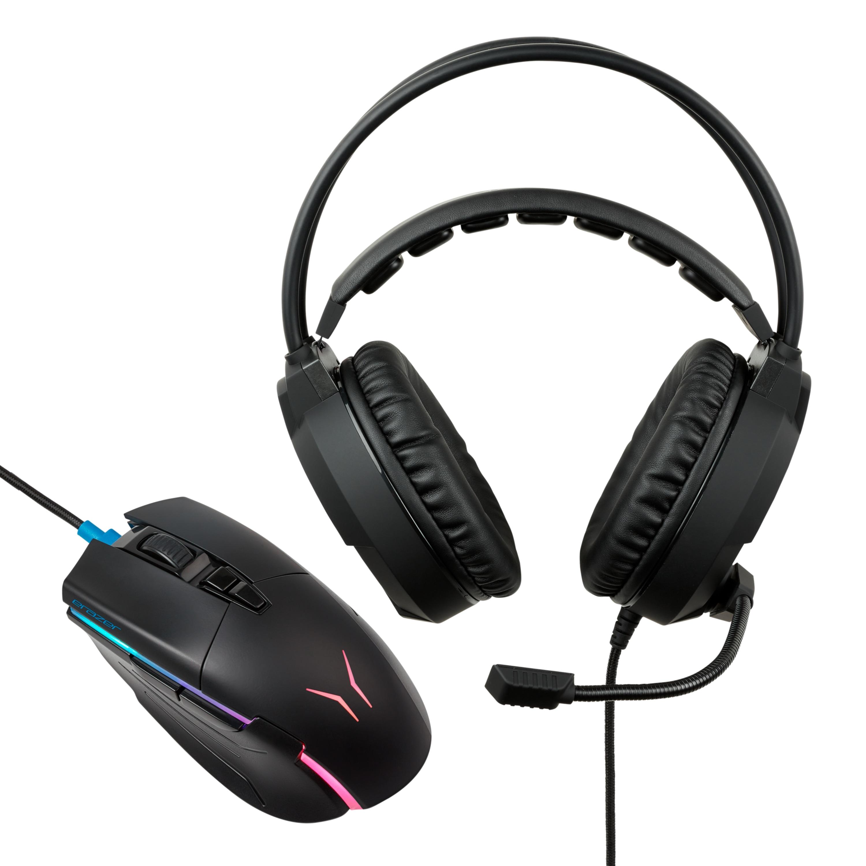 Günstig Kaufen beim Preisvergleich-MEDION ERAZER® X81035 Gaming Maus + X83009 Gaming Headset - ARTIKELSET Maus mit optischem PixArt PMW 3389 Sensor mit 16.000 DPI und 500 mAh Li-Polymer Akku,  2.0 Stereo Gaming Headset mit Kabel-Bedienelement und integriertem Mikrofon,