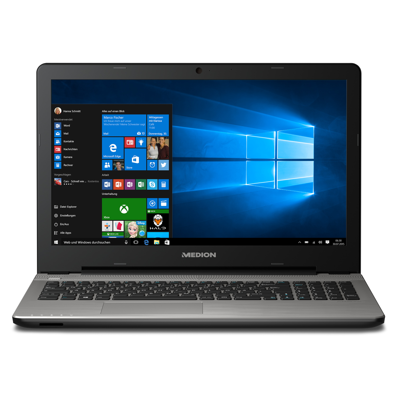 MEDION® AKOYA® E6421, Intel® Core™ i5-6200U, Windows10Home, 39,6 cm (15,6'') FHD Display, 128 GB SSD, 1 TB HDD, 4 GB RAM, Notebook (B-Ware)