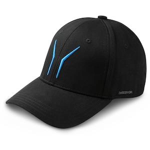 MEDION® ERAZER® Basecap MD 87833, mit aufgestickten blauen ERAZER Wings vorne und ERAZER Schriftzug auf der Rückseite