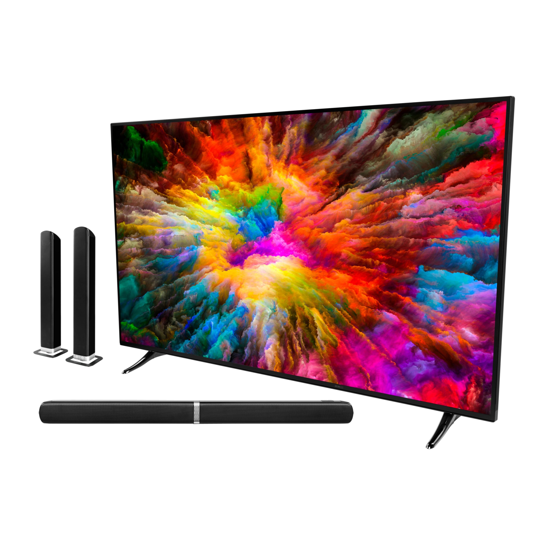 MEDION® LIFE® X14040 Smart-TV, 101,6,cm (40'') Ultra HD, HDR, Dolby Vision™, PVR ready, Netflix, Amazon Prime Video, Bluetooth®, DTS HD, inkl. Soundbar E64058 - SPARPAKET