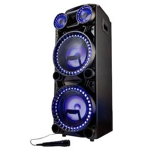 MEDION® LIFE X64060 Party luidspreker | LED-display | karaoke-, DJ- en drum functie | Bluetooth 5.0 | Equalizer | Microfoon inbegrepen | 1000 Watt max.