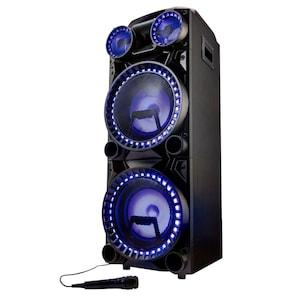 MEDION® LIFE® X64060 Partylautsprecher, LED-Display, Karaoke-, DJ- und Schlagzeug-Funktion, Bluetooth® 5.0, Equalizer, inklusive Mikrofon, 2 x 1000 W max. Musikausgangsleistung