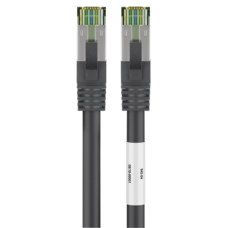 Günstig Kaufen beim Preisvergleich-WENTRONIC CAT 8.1 Patchkabel, geschirmter RJ45 Stecker mit Rastnase und Rastnasenschutz, Slimline-Knickschutztülle, doppelt geschirmt Geeignet für 25/40G Base-T Ethernet Netzwerke,  Abwärtskompatibel,  Max. Bandbreite: 2000 MHz / 2 GHz,  Nach Indust