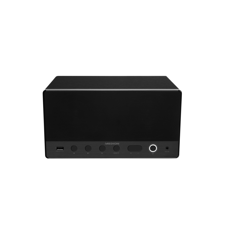 MEDION® LIFE® P61071 Multiroom Lautsprecher mit WLAN, Spotify Connect kompatibel, DLNA, USB Ladeanschluss, AUX-In, 2 x 7 Watt + 15 Watt RMS