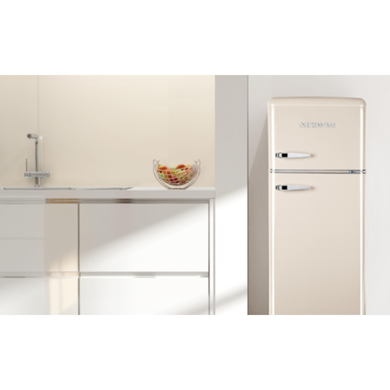 Retro Kühlschrank Weiß : Medion kühl gefrierkombination md retro design l