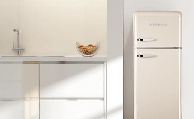 Retro Kühlschrank Medion : Medion® kühl gefrierkombination md 37258 retro design 208 l