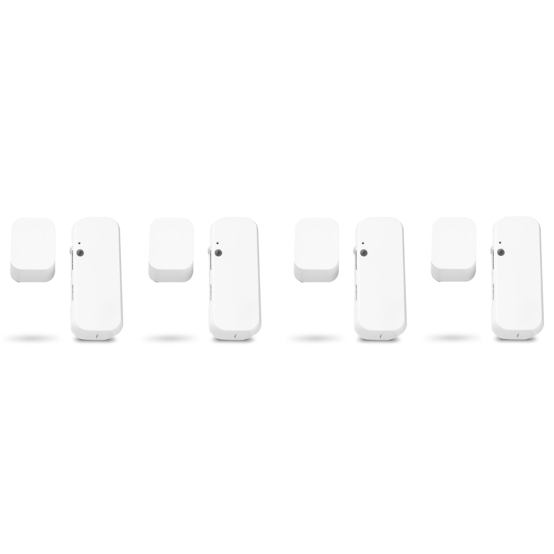 MEDION® Smart Home Sparpaket - 4 x Tür- und Fensterkontakt P85703, Smart Home, Erkennt geöffnete Türen, Fenster und Schränke, Löst Alarm aus, Steuerung per App