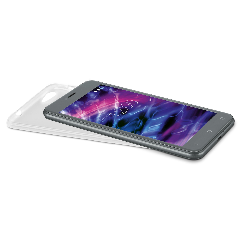 MEDION® Smartphone Schutzhülle MD 61038, Perfekter Schutz gegen Aufprall und Stöße, TPU-Material, Für MEDION® E5008 Smartphone