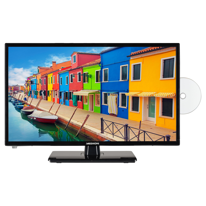MEDION® LIFE® E12443 Fernseher, 59,9 cm (23,6'') LCD-TV, Full HD, HD Triple Tuner, integrierter DVD-Player, Car-Adapter, integrierter Mediaplayer, CI+