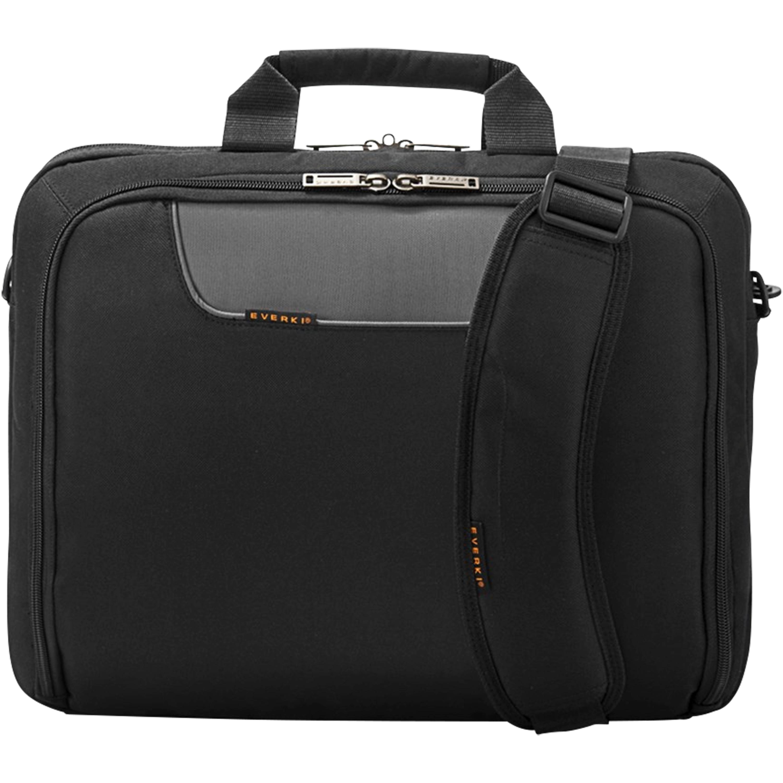 Günstig Kaufen beim Preisvergleich-EVERKI Laptop Tasche, geeignet für Laptop bis 16-Zoll, Trolley-Lasche, selbstheilende Reißverschlüsse, kontrastreiche Innenauskleidung Geeignet für Laptops bis 16'',  Gepolstertes Notebookfach,  Extra gepolsterte, ergonomische Schultergurte,  Reiß