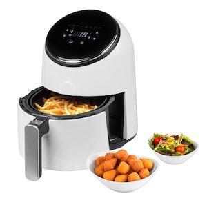 MEDION® Heißluftfritteuse MD 18268, ölfreies Frittieren, digitales Bedienfeld, 1300 Watt, Temperaturkontrolle bis 200°C, Cool-Touch-Griff