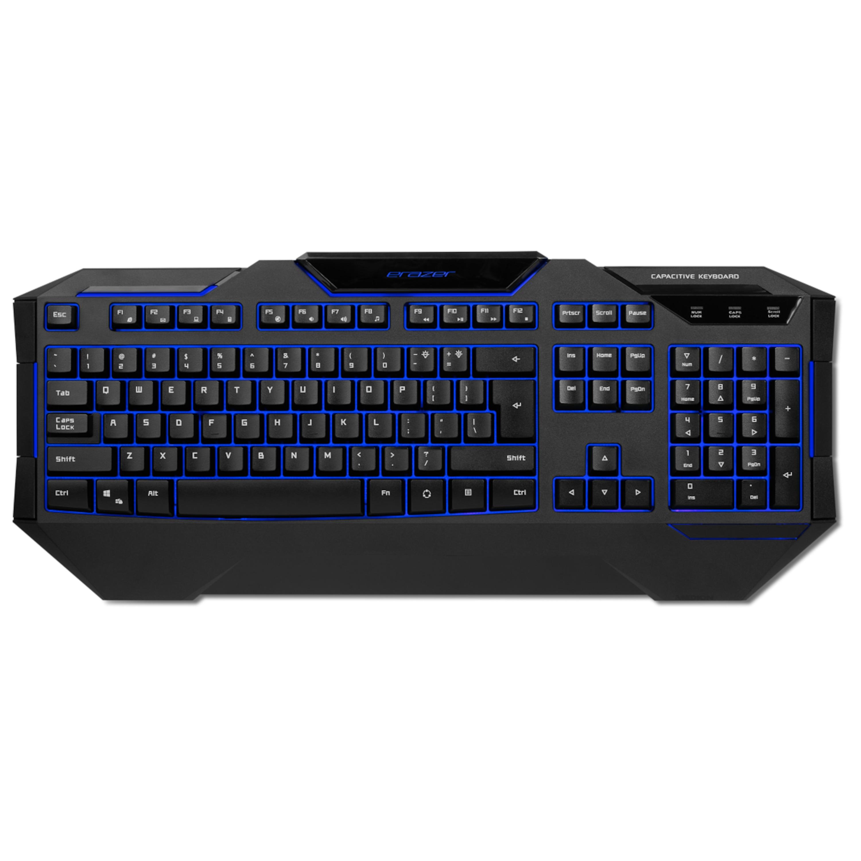 MEDION® ERAZER® X81019, Gaming Tastatur, Präzise Tastenreaktion, Hintergrundbeleuchtung, 24 Anti-Ghosting-Tasten